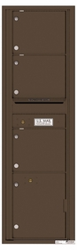 Versatile Rear Loading Mailbox with 3 Tenant Compartments and 1 Parcel Locker
