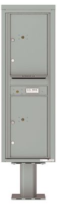 Versatile Front Loading Pedestal Mailbox Parcel Lockers with Outgoing Mail Slot