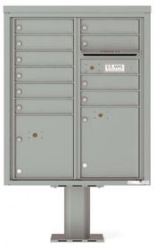 4C Pedestal Mailboxes with Parcel Lockers 9 to 10 Doors