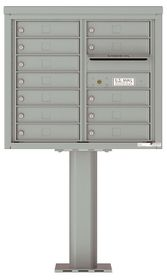 4C Pedestal Mailboxes 11 to 12 Doors
