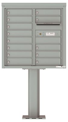 Versatile Front Loading Pedestal Mailbox with 13 Tenant Doors and Outgoing Mail Slot