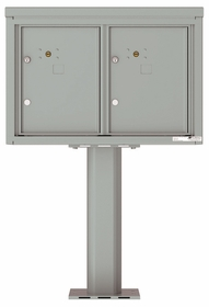 Versatile Front Loading Pedestal Mailbox with 2 Parcel Lockers