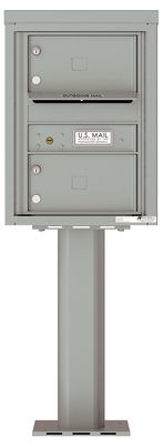 Versatile Front Loading Pedestal Mailbox with 2 Extra-Large Tenant Doors and Outgoing Mail Slot