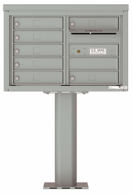 Versatile Front Loading Pedestal Mailbox with 7 Tenant Doors and Outgoing Mail Slot