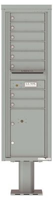 Versatile Front Loading Pedestal Mailbox with 8 Tenant Doors and 1 Parcel Locker