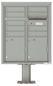 Versatile Front Loading Pedestal Mailbox with 9 Extra-Large Tenant Doors and 2 Parcel Lockers