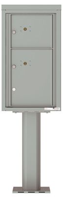 Versatile Front Loading Pedestal Parcel Lockers with Outgoing Mail Slot