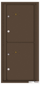 Versatile Rear Loading Single Column Commercial Mailbox with 2 Extra-Large Parcel Lockers
