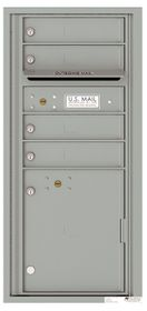 Versatile Front Loading Single Column Commercial Mailbox with 4 Tenant Compartments and 1 Parcel Locker