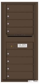 Versatile Rear Loading Single Column Commercial Mailbox with 8 Tenant Compartments and Outgoing Mail Slot