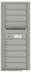 Versatile Front Loading Single Column Commercial Mailbox with 9 Tenant Doors