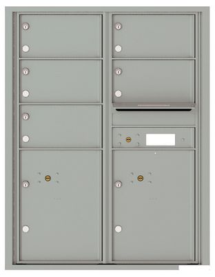 Versatile Front Loading Single Column Commercial Mailbox with 9 Tenant Doors and Outgoing Mail Slot
