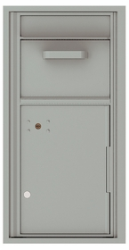 Versatile Front Loading Single Column Mailbox Collection Drop Box with Pull Down Hopper - 4C09S-HOP