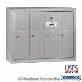 Vertical Mailbox - 4 Doors - USPS Access