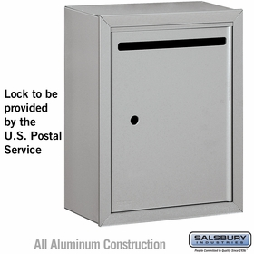 Salsbury 2240AU Letter Box - Standard - Surface Mounted - Aluminum - USPS Access