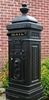 Victorian Tower Rear Access Mailbox - Satin Black