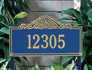 Villa Nova Estate Lawn Address Sign - One Line
