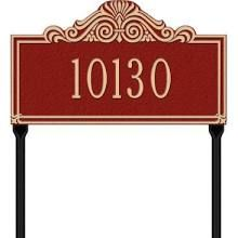 Villa Nova Standard Lawn Address Sign - One Line