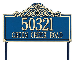 Villa Nova Standard Lawn Address Sign - Two Line
