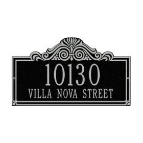 Villa Nova Two Line Standard Wall Plaque