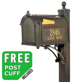 Whitehall Deluxe Streetside Custom Mailbox Package - Build Options