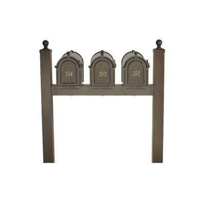 Whitehall Side Mount Triple Mailbox Package