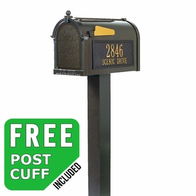 Whitehall Premium Streetside Custom Mailbox Package - Choose Options