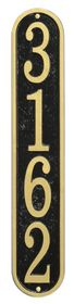 Whitehall Products Fast & Easy Vertical House Numbers Plaque - Choose Color