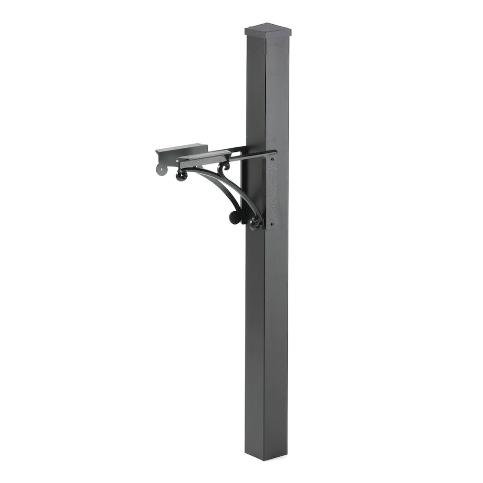 Whitehall Products Superior Mailbox Package In Black