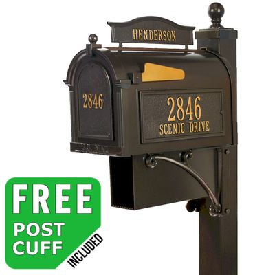 Whitehall Ultimate Streetside Custom Mailbox Package - Build Options