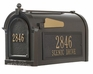 Black Statesville Post and Mailbox Package