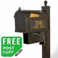 Whitehall Westwood Streetside Mailbox Package with Newspaper Holder in Bronze