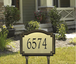 Williamsburg Artisan Metal Estate Lawn Address Sign - One Line
