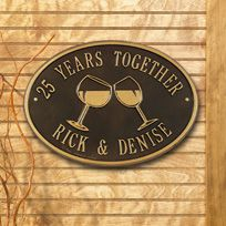 Wine Hawthorne - Standard Two Line Wall Plaque