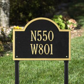 Wisconsin Special Standard Two Line Lawn Address Sign