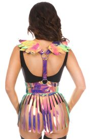 2 PC Rainbow Gold Holo Body Harness Set - IN STOCK