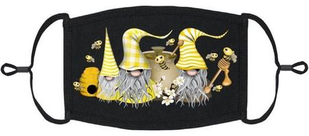 Bees Gnomes Fabric Face Mask (PRE ORDER Ships 3/10)