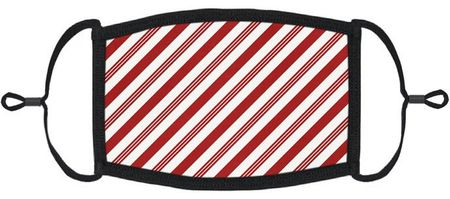 Candy Cane Fabric Face Mask