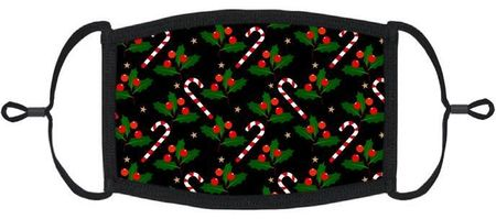 Candy Canes Fabric Face Mask