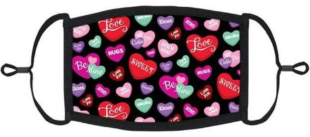 Candy Hearts Fabric Face Mask