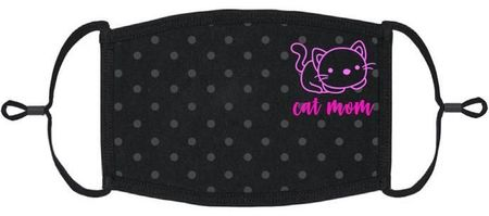 """Cat Mom"" Fabric Face Mask"