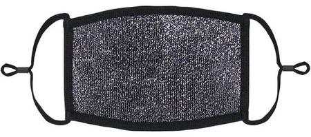 Dark Silver Glitter Fabric Face Mask