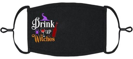 """""""Drink Up Witches"""" Fabric Face Mask"""