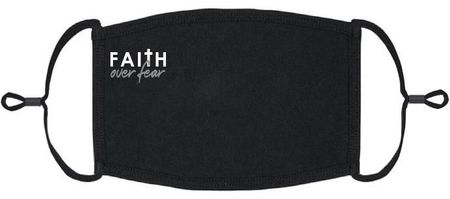 """Faith Over Fear"" Fabric Face Mask"