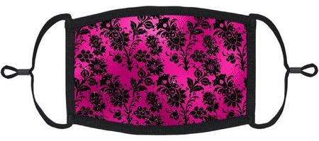 Fuchsia Floral Fabric Face Mask