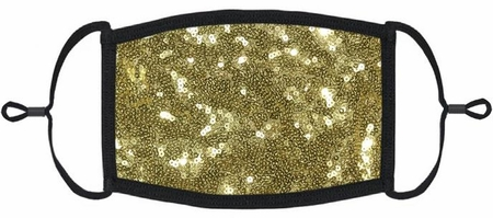 Gold Sequin Fabric Face Mask