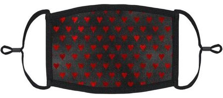 Gothic Red Hearts Fabric Face Mask