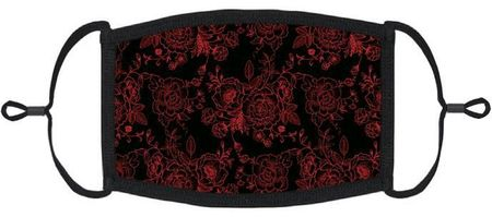 Gothic Roses Fabric Face Mask