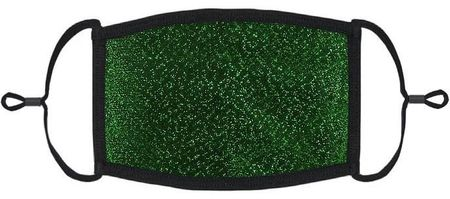 Green Glitter Fabric Face Mask