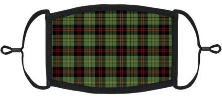 Green Plaid Fabric Face Mask
